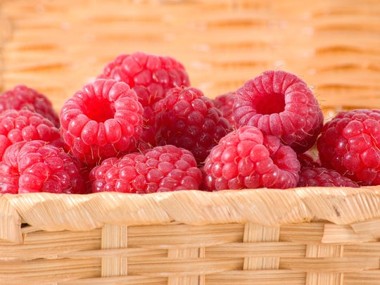 Fruits high in antioxidants, such as raspberries, can
