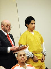 Defense attorney Jeremy Dzubay and Gonzalo Curiel,
