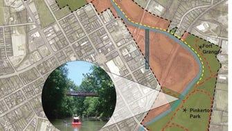 Riverfront planning study area