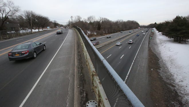 Route 59 in Ramapo passes over the New York State Thruway in Monsey March 4, 2014. Some local officials believe a new exit is needed here and the state is considering studying it.
