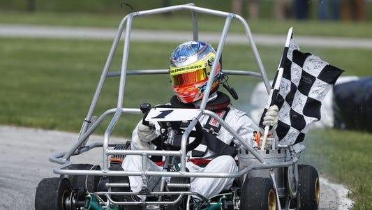 Jimmy Simpson won his third consecutive Purdue Grand Prix on Sunday, April 26, 2015.