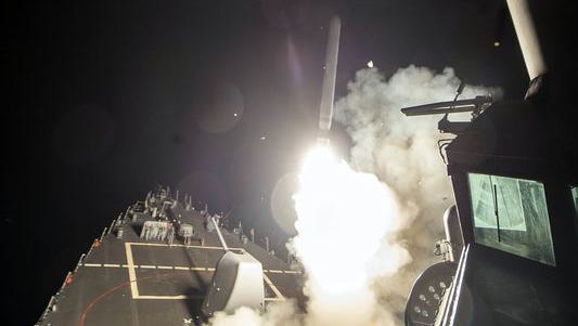 Missile launches toward Syria from USS Ross
