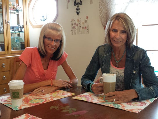 Lisa Brown (left) with her mother Pat Neuhauser in