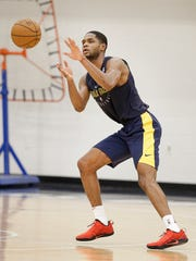 Central Florida's A.J. Davis at the Indiana Pacers pre-draft workout at the St. Vincent's Center
