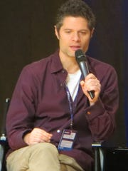 "Tom Kitt speaks during the  ""SpongeBob SquarePants"" show spotlight at BroadwayCon 2018, held from Jan. 26 to 28, 2018, at the Javits Center in Manhattan."