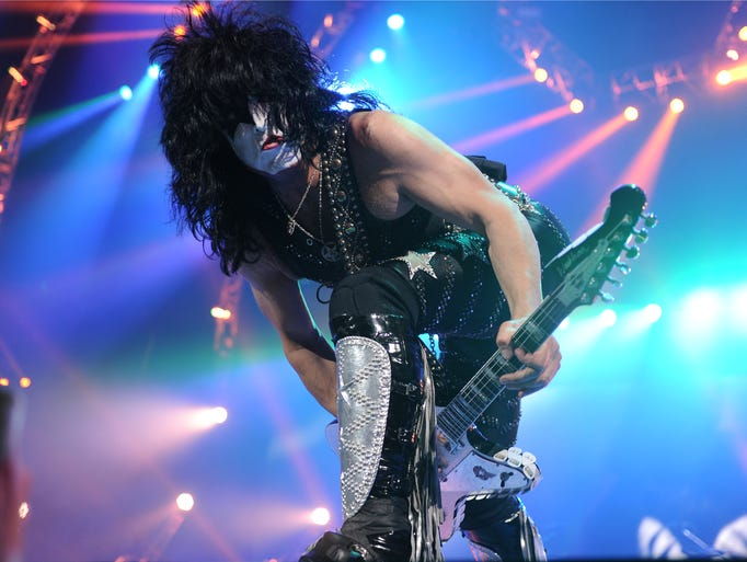 KISS performs at Bridgestone Arena while on tour with Def Leppard, during the KISS 40 Tour, on Wednesday July 16, 2014 in Nashville, Tenn.