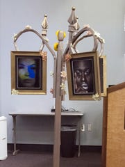 Pensacola Habitat for Humanity and Pensacola State College's Anna Lamar Switzer Center for the Visual Art have joined forces to present a unique art show featuring items, like the one seen here, created using repurposed items from the Pensacola ReStore. The works of art will be on display at the PSC art gallery until May 25.