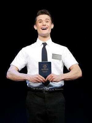 "Mark Evans in the first national tour of ""The Book of Mormon."""