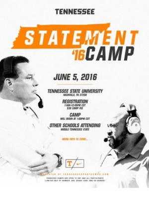 Tennessee Statement 16 Camp will be June 5 at Tennessee State.