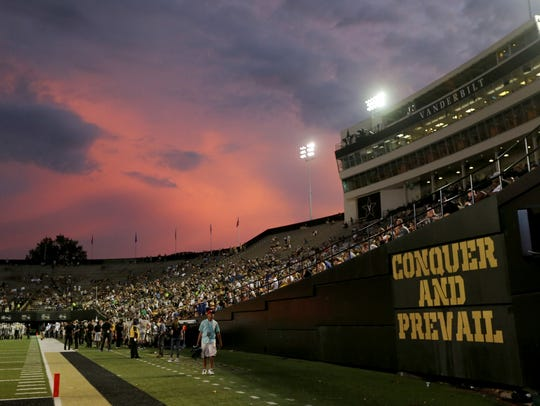 The bad weather led to a beautiful sky over Vanderbilt