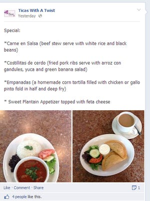 Specials are posted on Facebook.