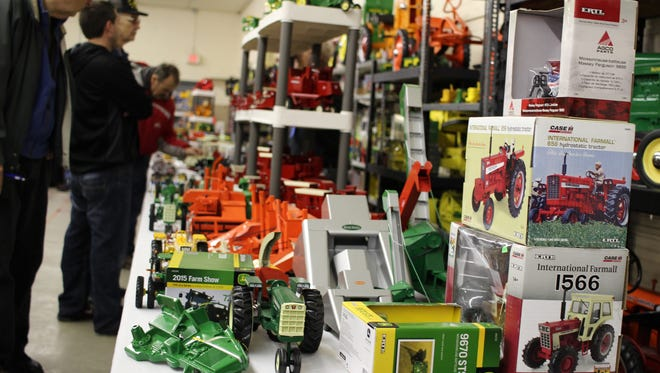 The most popular items at the Fremont Toy Show were die-cast tractors, as well as other farm and agricultural collectibles.