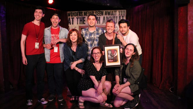 """The New York-based cast of """"Romeo + Juliet + Anybodys"""" won The Dr. Robert J. Thierauf Producer's Pick of the Fringe on Saturday night at the Know Theatre of Cincinnati. The prize is voted on by festival staff members."""