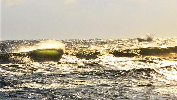 Rough surf and a moderate risk of rip currents remain in the forecast Thursday. Reader-submitted photo.