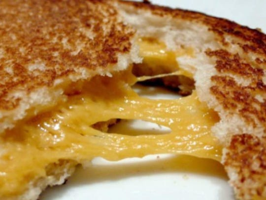 Grilled cheese from the Melt Factory.