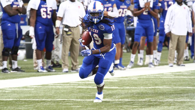 "Darion Hall has moved from running back to wide receiver for TSU. ""We want all of our receivers to be committed to blocking as well as catching the football,"" coach Rod Reed says."