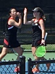 Alexa Alden and Emma Winstead of Wichita Falls High School advanced to the District 5-5A championship match.