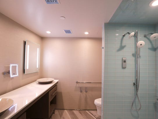 A guest bathroom is shown at the under-construction