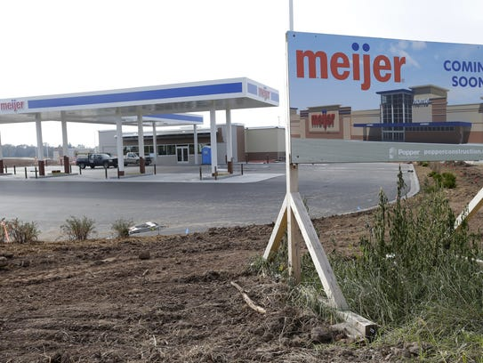 The coming Meijer gas station  in Grand Chute.