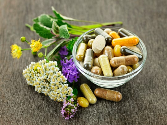 Herbs with alternative medicine herbal supplements