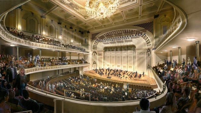 A rendering of how Springer Auditorium will look when the renovation is complete.