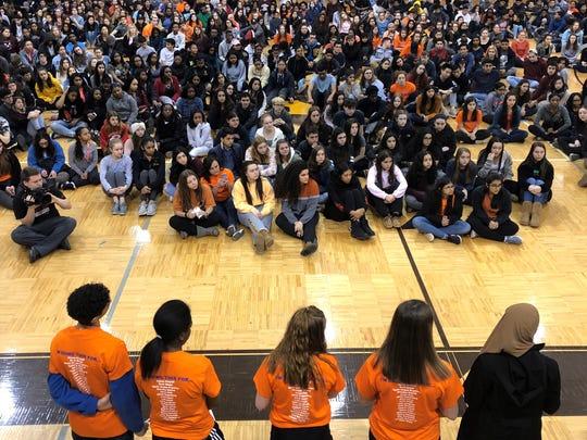 Students at North Farmington High School participate