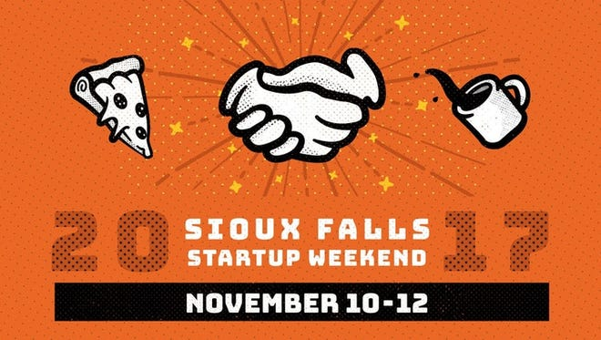 A logo for Sioux Falls Startup Weekend