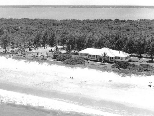Hutchinson Island in the late 1940s, along the beach