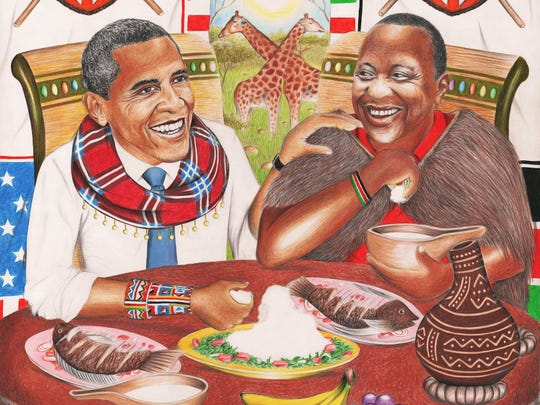 Illustration by artist Dayan Masinde of President Obama
