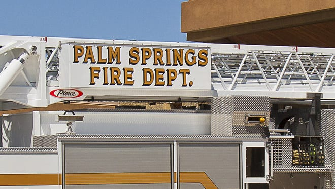 The Palm Springs Fire Department responded to a small fire Tuesday on Palm Canyon Drive.