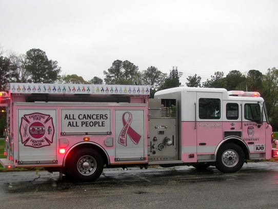 The Pink Fire Trucks from Pink Heals, Inc., are coming