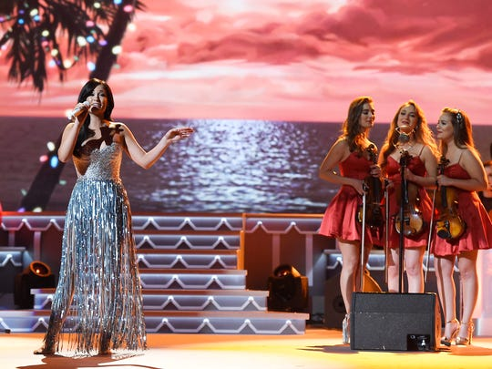 Kacey Musgraves performs at the CMA Country Christmas at the Opry House.  Tuesday Nov. 8, 2016, in Nashville, Tenn.