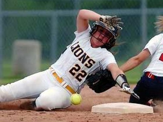 South Lyon's Janie Mitchell (left) earned first team