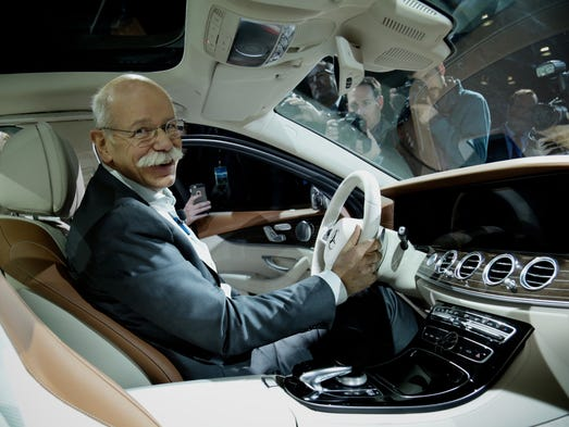 Mercedes-Benz Chairman, Dr. Dieter Zetsche inside the