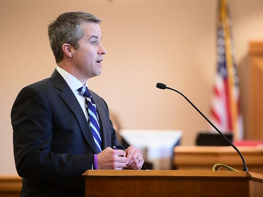 Deputy District Attorney Daniel McDonald delivers opening statements in a 2016 trial. McDonald has been appointed to be a judge in the 8th Judicial District, which includes Larimer County.