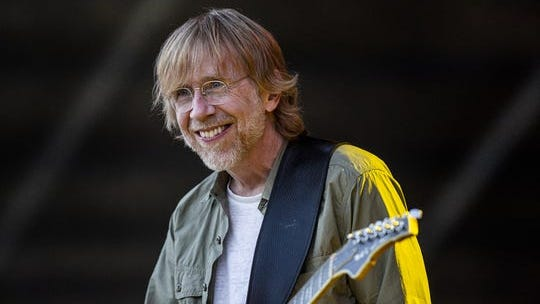 Trey Anastasio smiled to the crowd at the Barrel stage at Bourbon & Beyond on Sept. 21, 2019