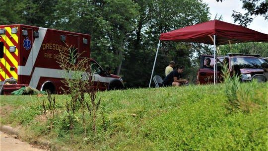 The Dresden Fire Department was on scene on Sunday at Lane's Landing for a recovery effort for a male, who is presumed drown after going missing on Saturday night in the Muskingum River.