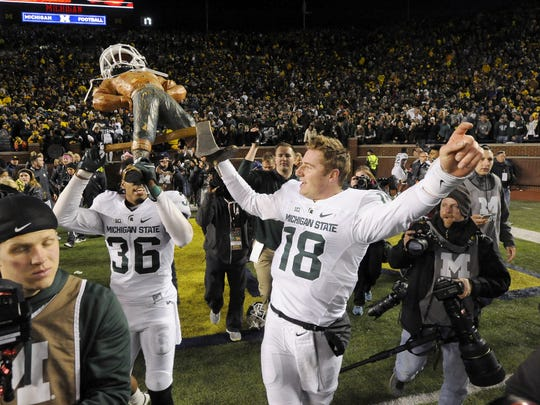 Connor Cook led MSU to two Big Ten championships during his three years as the Spartans' starting quarterback.
