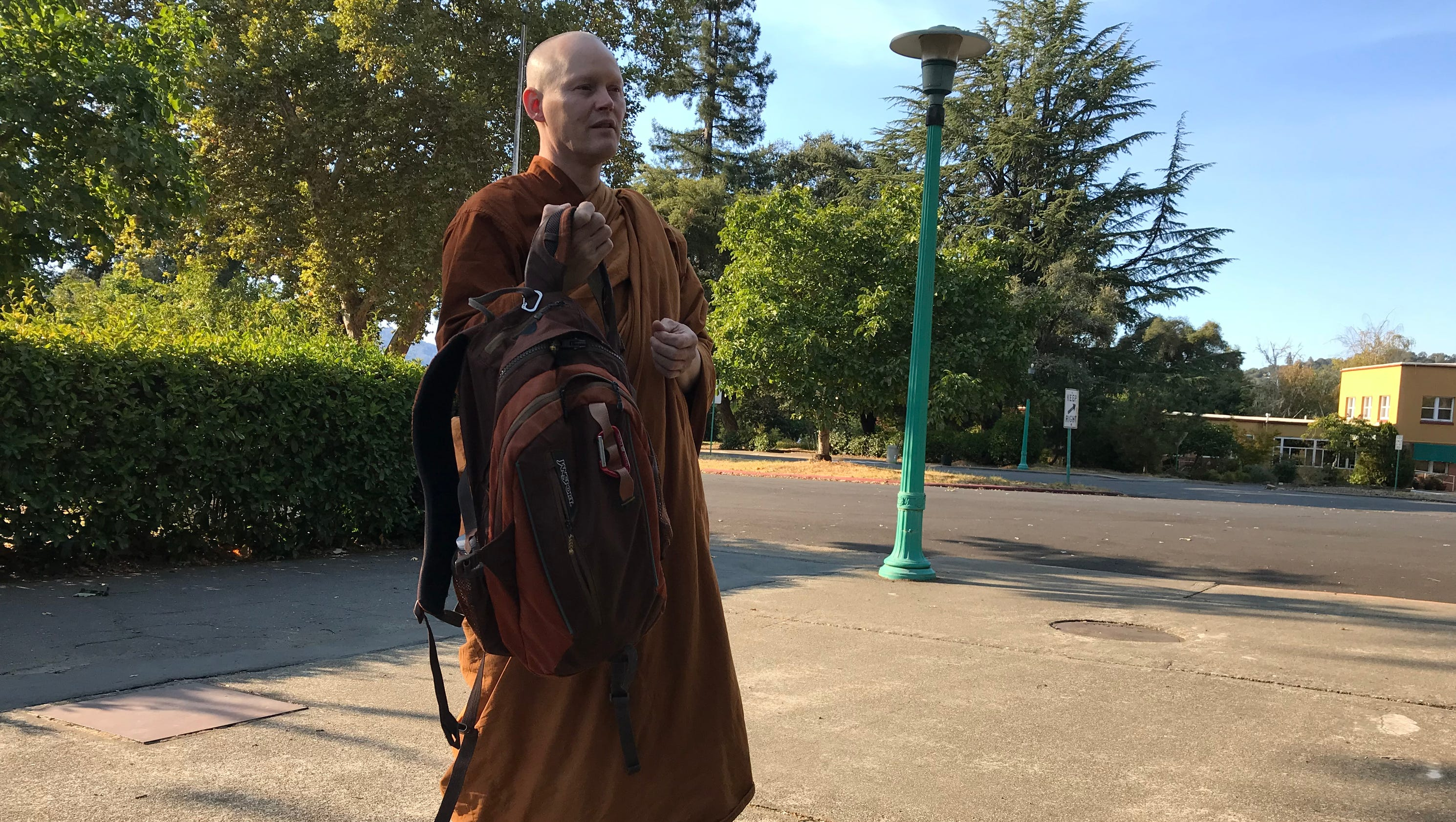 'That could be my death': Monks face flames at California monastery