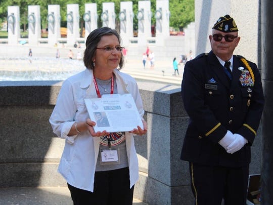 Assemblywoman Donna Lupardo honored her father, Frank Lupardo, during the Twin Tiers Honor Flight on May 12.