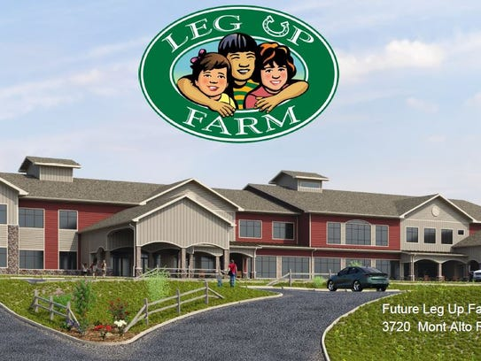 An architect's rendering of the planned Leg Up Farm