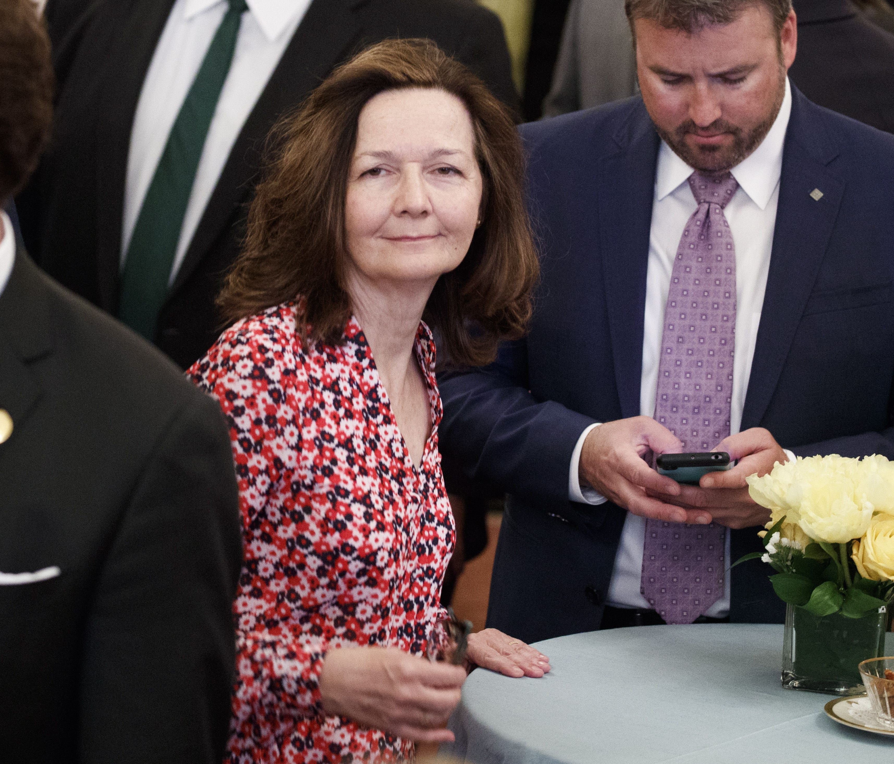 CIA Director nominee Gina Haspel attends the ceremonial swearing in ceremony for U.S. Secretary of State Mike Pompeo at the State Department in Washington, D.C. on May 2, 2018.
