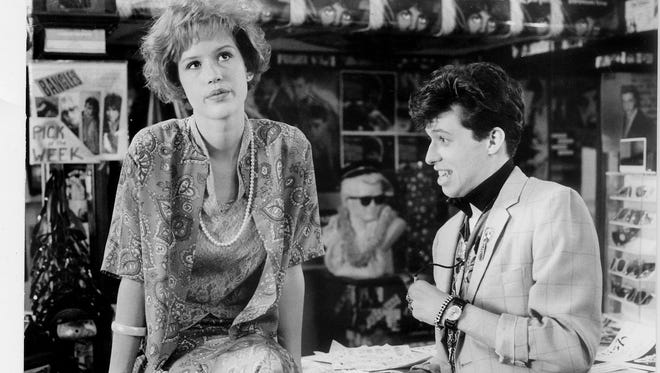 Molly Ringwald and Jon Cryer in 'Pretty in Pink.'