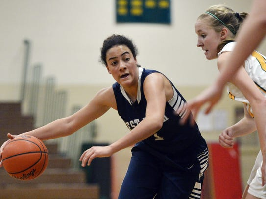 West York's Angie Hawkins drives to the hoop last season.