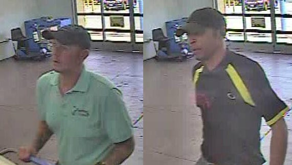 Two men are suspected by police to be involved in stealing five TVs from the south Hanover Walmart on Aug. 1.