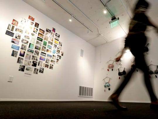 A visitor tours the new Museum of Broken Relationships