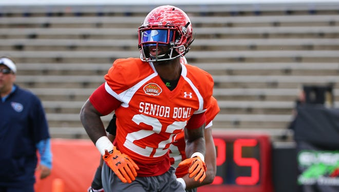 Miami of Ohio cornerback Quinten Rollins (22) during the North team practice for the 2015 Senior Bowl at Ladd Peebles Stadium in Mobile, AL on January 20, 2015. (AP Photo/Johnny Vy)