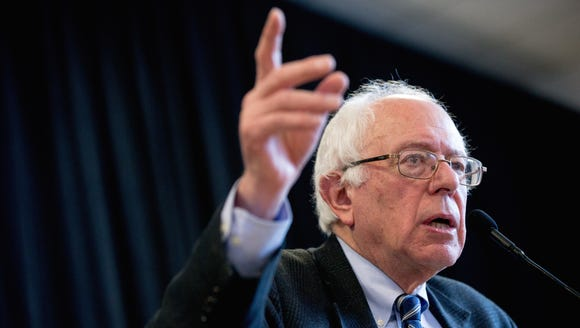 Democratic presidential candidate Bernie Sanders speaks
