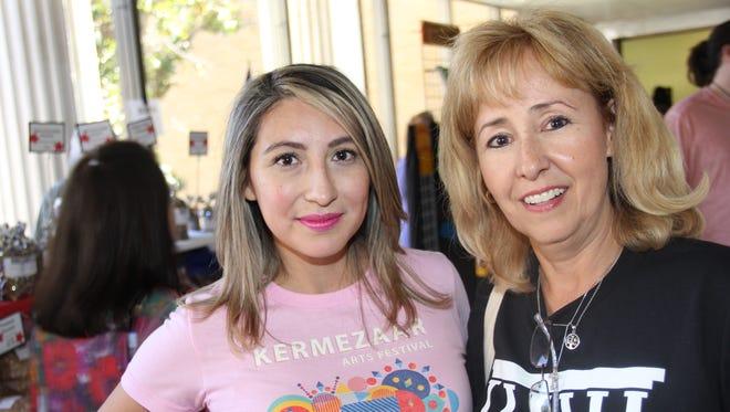 Nikki Martinez, left, and Mitzi Quirate