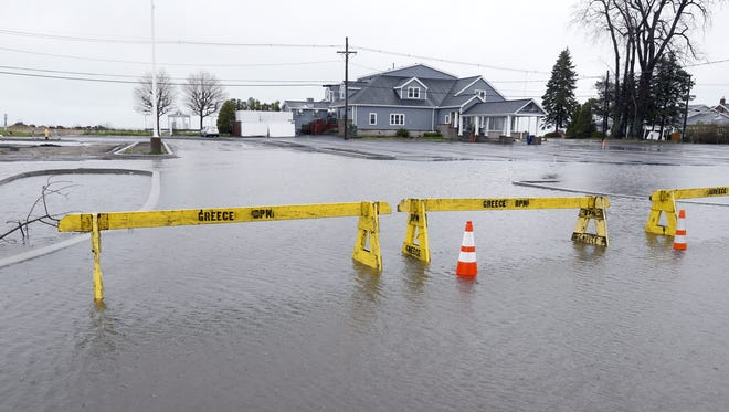 The parking lot of the former Crescent Beach Restaurant on Edgemere Drive in Greece.